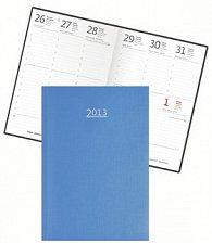 Diář koženkový 2012 - Arizona týdenní A5 - modrá