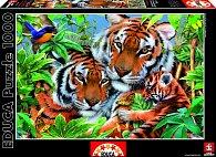 Puzzle Tygří rodina 1000 dílků