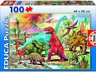 Puzzle Dinosaurus 100 dílků.