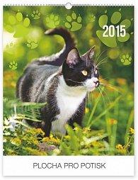 Kalendář 2015 - Kočky Praktik - nástěnný s prodlouženými zády