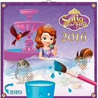 Kalendář nástěnný 2016 - W. D. Princezna Sofie - DIY: maluj vodou, poznámkový  30 x 30 cm