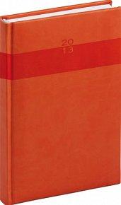 Diář 2013 - Aprint - Denní A5 Praktik, oranžová, 15 x 21 cm
