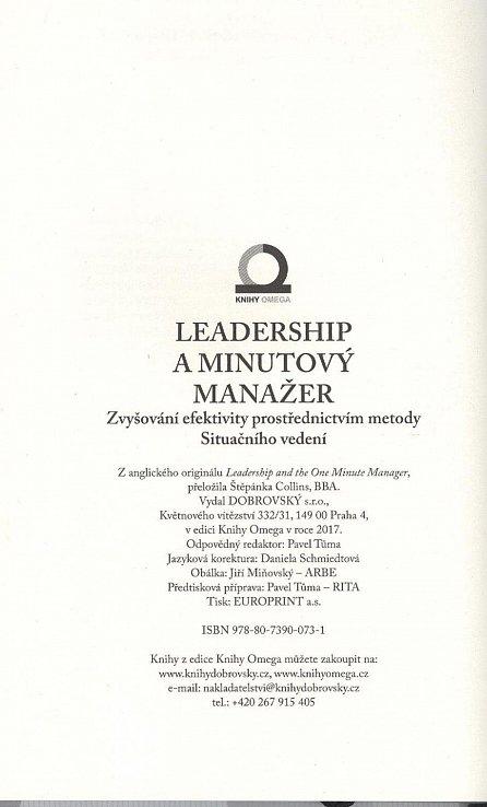 Náhled Leadership a Minutový manažer