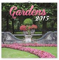 Kalendář 2015 - Zahrady - nástěnný (GB, DE, FR, IT, ES, NL)