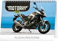 Kalendář stolní 2020 - Motorky, 23,1 × 14,5 cm