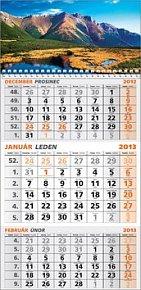 Trojmesačný okienkový kalendár 2013 - nástenný kalendár