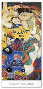 Kalendář nástěnný 2020 - Gustav Klimt, 33 × 64 cm