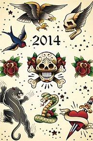 Diář 2014 - Tattoo - Týdenní magnetický (ČES, SLO, MAĎ, POL, RUS, ANG)