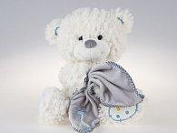 Medvěd bílý sedící s dečkou