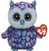 Plyš očka střední modro-fialová sova
