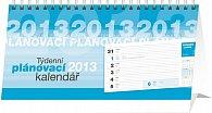 Kalendář 2013 stolní - Plánovací řádkový, 25 x 12,5 cm