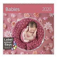 Kalendář nástěnný 2020 - Babies