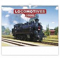 Kalendář nástěnný 2020 - Locomotives