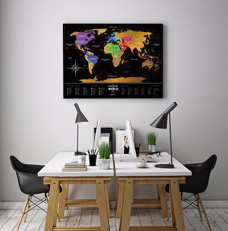 Náhled Stírací mapa světa Travel Map of the World Black