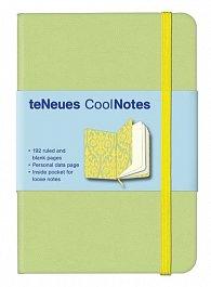 Zápisník CoolNotes Light Green Victorian Yellow malý