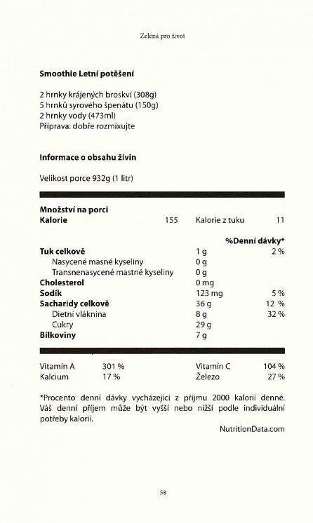 Náhled Zelená pro život - O významu zelených smoothies pro zdraví člověka