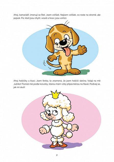 Náhled Julinka a Rek - Vyprávění o velkém psím přátelství s hravými úkoly pro předškoláky
