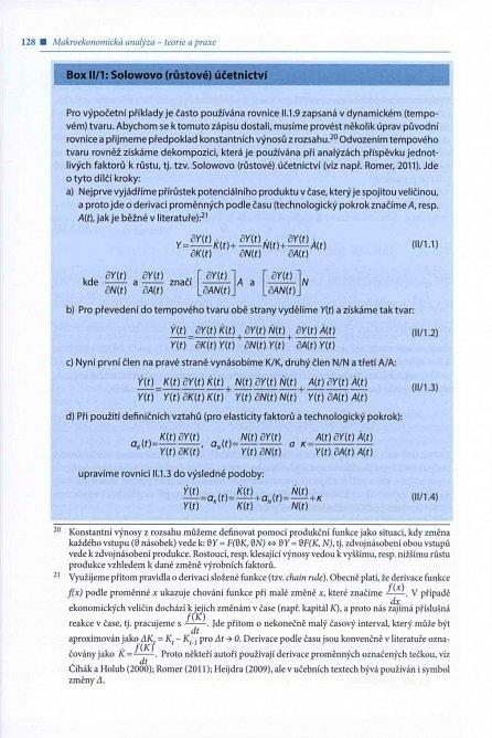 Náhled Makroekonomická analýza - teorie a praxe