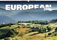 Kalendář 2014 - Krajiny Evropy - nástěnný s prodlouženými zády