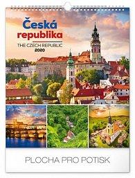Kalendář nástěnný 2020 - Česká republika, 30 × 34 cm
