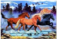 Puzzle Běžící koně 500 dílků