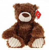 Medvěd plyšový hnědo-bílý 25cm