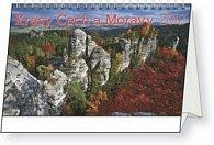 Kalendář stolní  2012 - Krásy Čech a Moravy, 23,1 x 14,5 cm