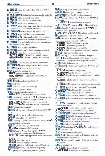 Náhled Japonsko-český česko-japonský velký slovník