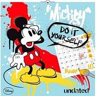 Kalendář nástěnný 2016 - W. D. Mickey Mouse - DIY: omalovánkový (s pastelkami), 30 x 30 cm