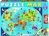 Puzzle mapa světa, 35 dílků