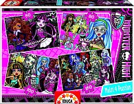 Puzzle Monster High 4 v 1, 50, 80, 100, 150 dílků