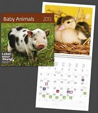 Baby Animals - nástěnný kalendář 2013
