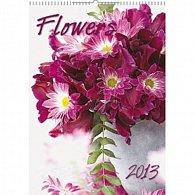 Kalendář nástěnný  2013 - Flowers