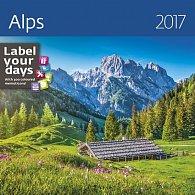 Kalendář nástěnný 2017 - Alps 300x300cm