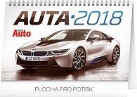 Kalendář stolní 2018 - Auta, 23,1 x 14,5 cm