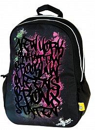 Batoh Target Sprayground velvet  černo/pastelový