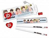 Školní pomůcky set - One Direction/bílé