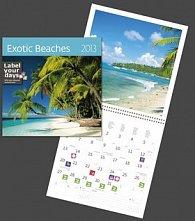 Exotic Beaches - nástěnný kalendář 2013