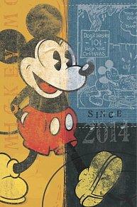 Diář 2014 - W. Disney Mickey Retro - Týdenní magnetický (ČES, SLO, MAĎ, ANG)