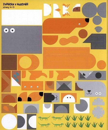 Náhled Zvířátka - Mozaiková samolepková knížka
