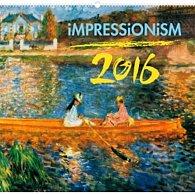 Kalendář nástěnný 2016 - Impresionismus,  48 x 46 cm