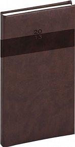 Diář 2013 - Aprint - Kapesní Praktik, tmavě hnědá, 9 x 15,5 cm