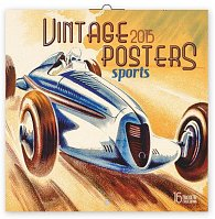 Kalendář 2015 - Plakáty sport - nástěnný (GB, DE, FR, IT, ES, NL)