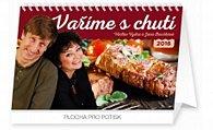 Kalendář stolní 2016 - Vaříme s chutí - Václav Vydra a Jana Boušková,  23,1 x 14,5 cm