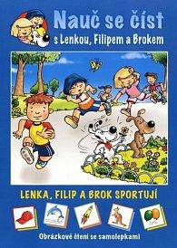 Lenka, Filip a Brok sportují - Obrázkové čtení se samolepkami