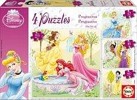 Puzzle Disney Princezny 4 v1 12,16,20,25 dílků