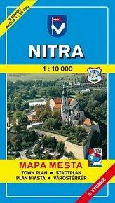 Nitra 1:10 000 Mapa mesta Town plan Stadtplan Plan miasta Várostérkép
