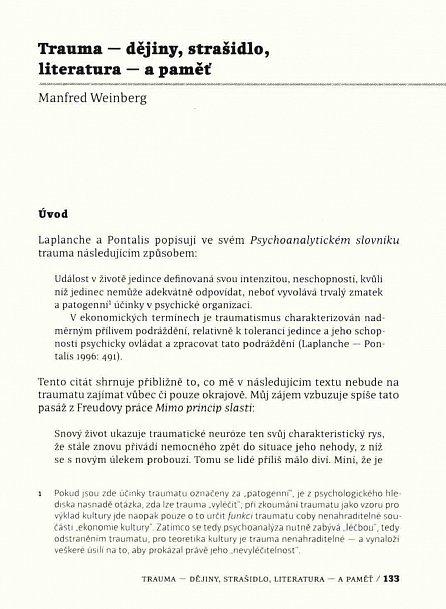 Náhled Paměť a trauma pohledem humanitních věd - Komentovaná antologie teoretických textů