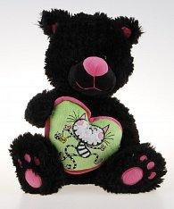 Černá kočka se srdcem