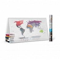 Stírací mapa světa Travel Map Air World
